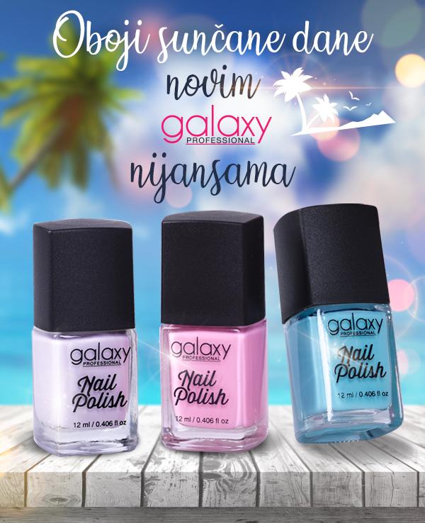 Galaxy lakovi za nokte - letnje boje