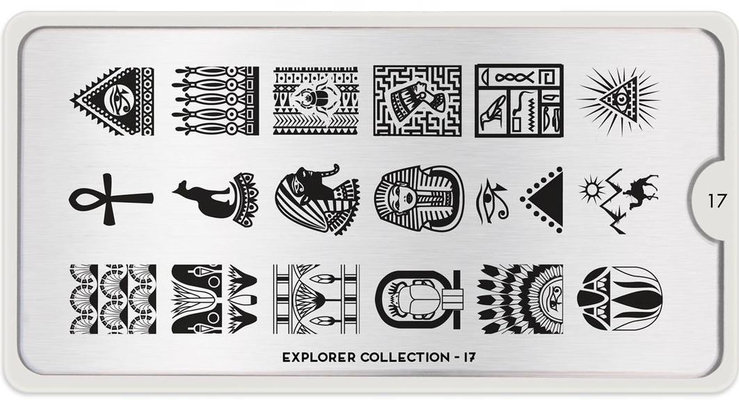 Šablon za pečate za nokte sa egipatskim motivima