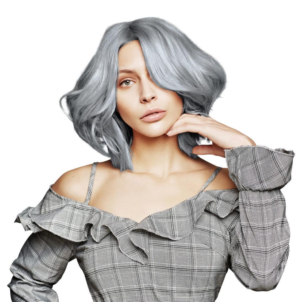 Pastelna boja za originalne frizure za Noć veštica