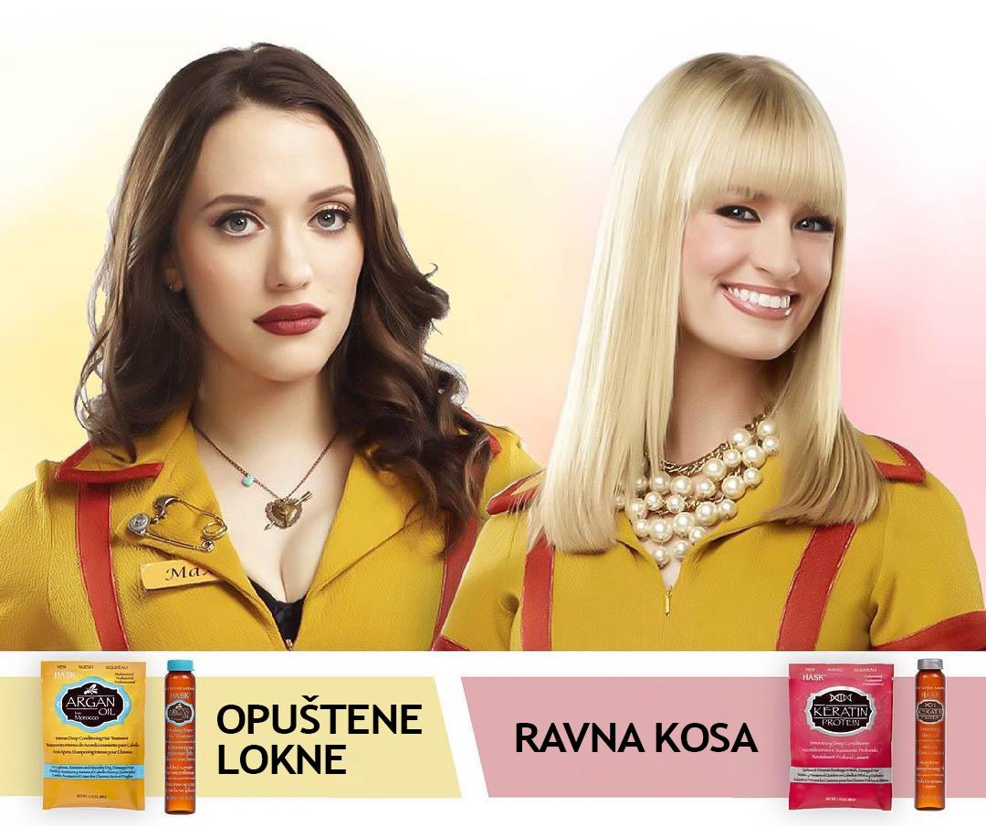 Hask proizvodi u seriji Dve devojke bez love