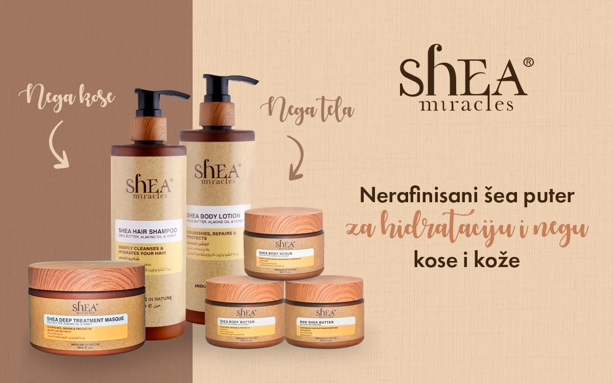 Shea puter za negu kose i kože - Shea Miracles