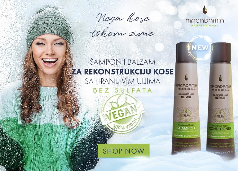 Zimska nega kose - Macadamia šampon i balzam